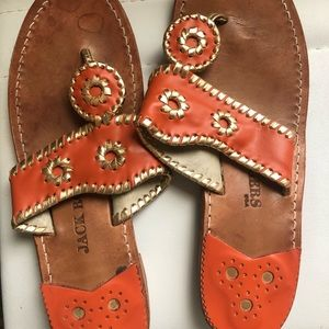 Orange Jack Rogers Sandals